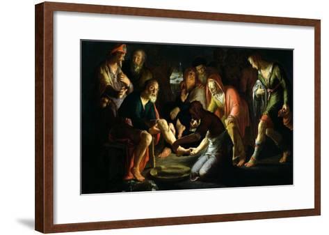 Christ Washing the Disciples' Feet, 1623-Peter Wtewael-Framed Art Print