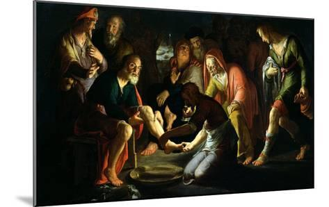 Christ Washing the Disciples' Feet, 1623-Peter Wtewael-Mounted Giclee Print