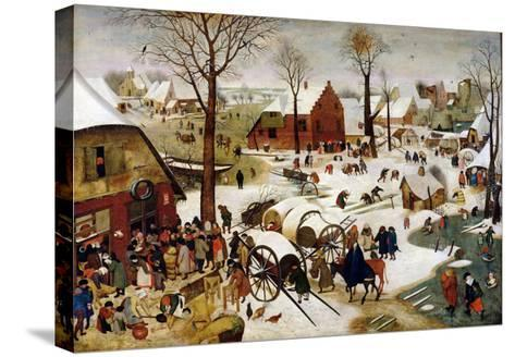 The Census at Bethlehem-Pieter Brueghel the Younger-Stretched Canvas Print