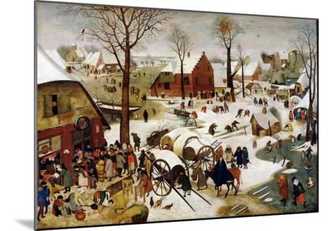 The Census at Bethlehem-Pieter Brueghel the Younger-Mounted Giclee Print