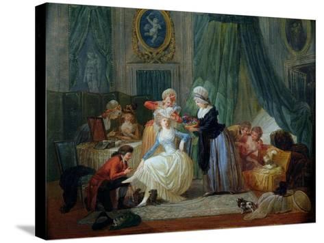 The Toilet-Francois Louis Joseph Watteau-Stretched Canvas Print