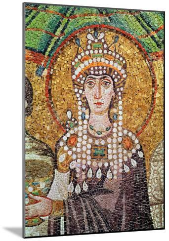 Empress Theodora with Her Court of Two Ministers and Seven Women, Detail of Theodora, circa 547 AD--Mounted Giclee Print