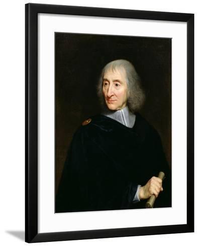 Portrait of Arnauld D'Andilly (1589-1674)-Philippe De Champaigne-Framed Art Print