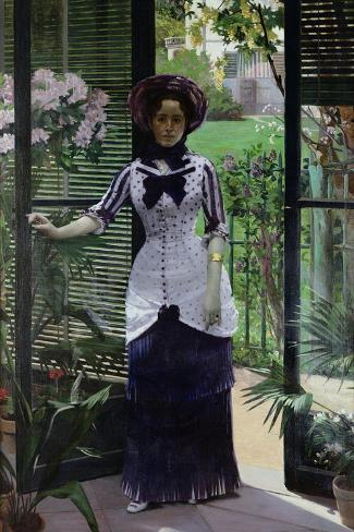 In the Greenhouse, 1881-Albert Bartholome-Stretched Canvas Print
