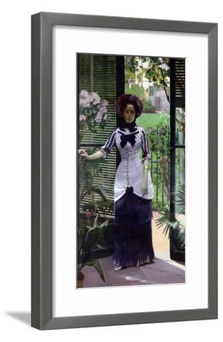 In the Greenhouse, 1881-Albert Bartholome-Framed Art Print