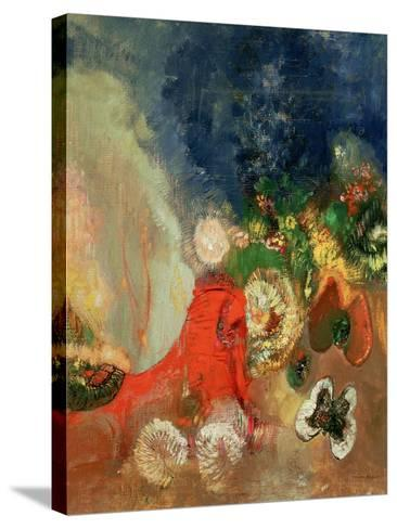 The Red Sphinx-Odilon Redon-Stretched Canvas Print
