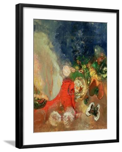 The Red Sphinx-Odilon Redon-Framed Art Print