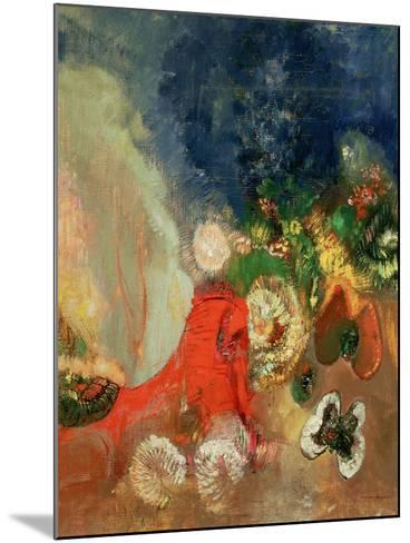 The Red Sphinx-Odilon Redon-Mounted Giclee Print
