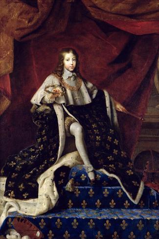Portrait of Louis XIV (1638-1715) Aged 10, 1648-Henri Testelin-Stretched Canvas Print