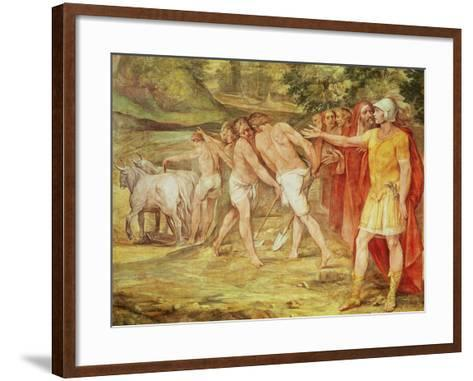 Romulus Marking the Limits of Rome, from the Sala Dei Horatii E Curatii-Guiseppe Cesari-Framed Art Print