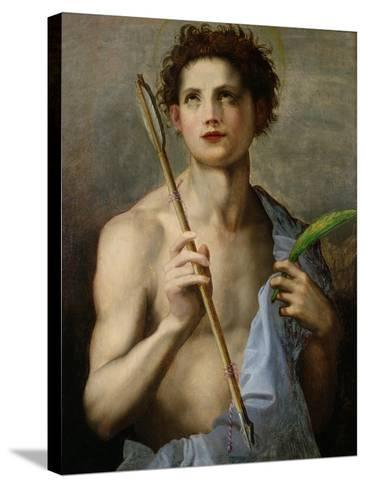 St. Sebastian Holding Two Arrows and the Martyr's Palm-Andrea del Sarto-Stretched Canvas Print