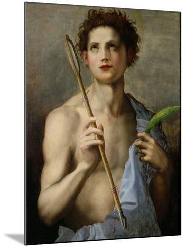 St. Sebastian Holding Two Arrows and the Martyr's Palm-Andrea del Sarto-Mounted Giclee Print