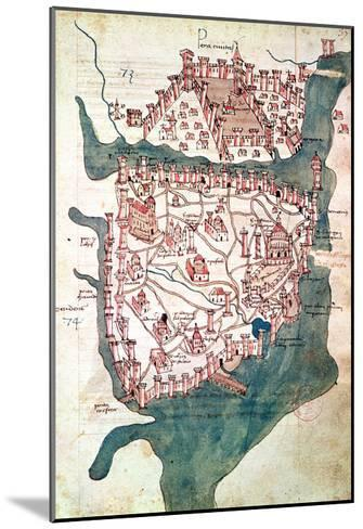 Plan of Constantinople--Mounted Giclee Print