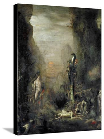 Hercules and the Lernaean Hydra, after Gustave Moreau, circa 1876-Narcisse Berchere-Stretched Canvas Print