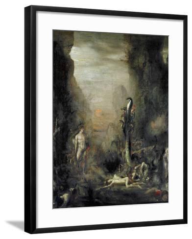 Hercules and the Lernaean Hydra, after Gustave Moreau, circa 1876-Narcisse Berchere-Framed Art Print