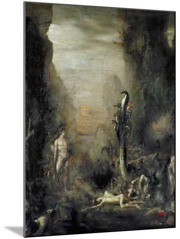 Hercules and the Lernaean Hydra, after Gustave Moreau, circa 1876-Narcisse Berchere-Mounted Giclee Print