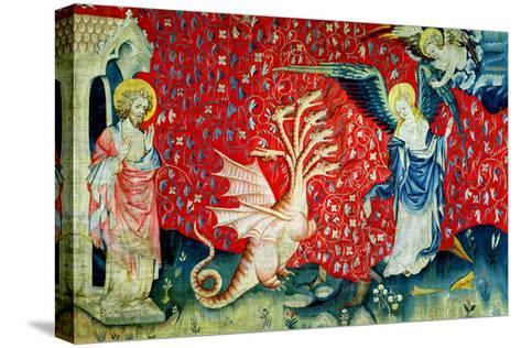 """The Woman Receiving Wings to Flee the Dragon, No.37 from """"The Apocalypse of Angers,"""" 1373-87-Nicolas Bataille-Stretched Canvas Print"""