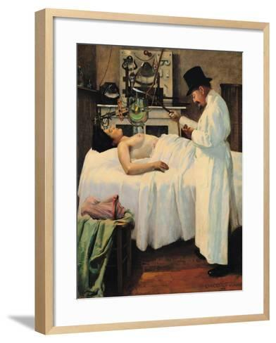 The First Attempt to Treat Cancer with X Rays by Doctor Chicotot, 1907-Georges Chicotot-Framed Art Print
