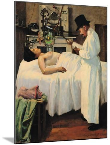 The First Attempt to Treat Cancer with X Rays by Doctor Chicotot, 1907-Georges Chicotot-Mounted Giclee Print
