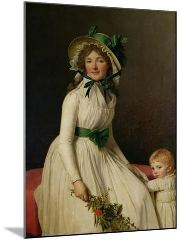 Madame Pierre Seriziat (Nee Emilie Pecoul) with Her Son, Emile (B.1793) 1795-Jacques-Louis David-Mounted Giclee Print
