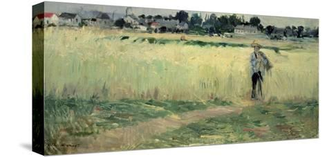 In the Wheatfield at Gennevilliers, 1875-Berthe Morisot-Stretched Canvas Print