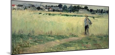 In the Wheatfield at Gennevilliers, 1875-Berthe Morisot-Mounted Giclee Print