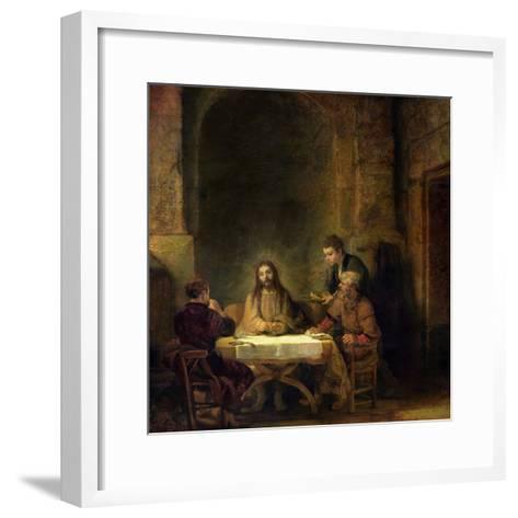 The Supper at Emmaus, 1648-Rembrandt van Rijn-Framed Art Print