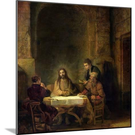 The Supper at Emmaus, 1648-Rembrandt van Rijn-Mounted Giclee Print