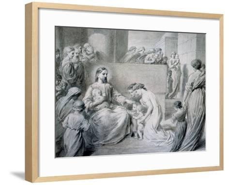 Christ Blessing Little Children-Warwick Brookes-Framed Art Print