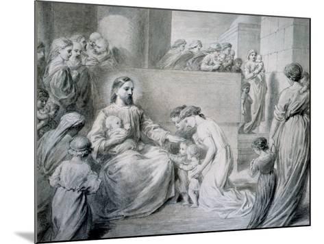 Christ Blessing Little Children-Warwick Brookes-Mounted Giclee Print