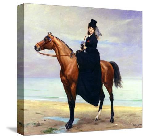 Equestrian Portrait of Mademoiselle Croizette, 1873-Charles ?mile Carolus-Duran-Stretched Canvas Print