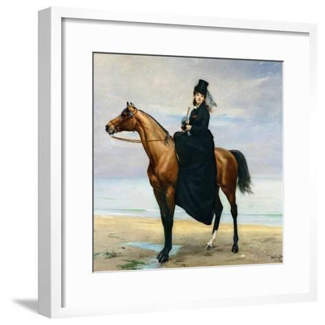 Equestrian Portrait of Mademoiselle Croizette, 1873-Charles ?mile Carolus-Duran-Framed Art Print