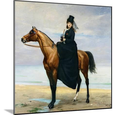 Equestrian Portrait of Mademoiselle Croizette, 1873-Charles ?mile Carolus-Duran-Mounted Giclee Print