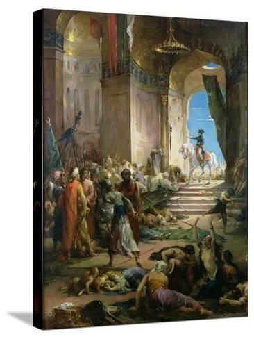 Napoleon Bonaparte (1769-1821) in the Grand Mosque at Cairo-Henri Levy-Stretched Canvas Print