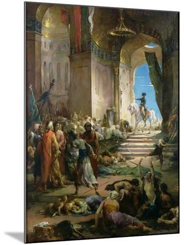Napoleon Bonaparte (1769-1821) in the Grand Mosque at Cairo-Henri Levy-Mounted Giclee Print
