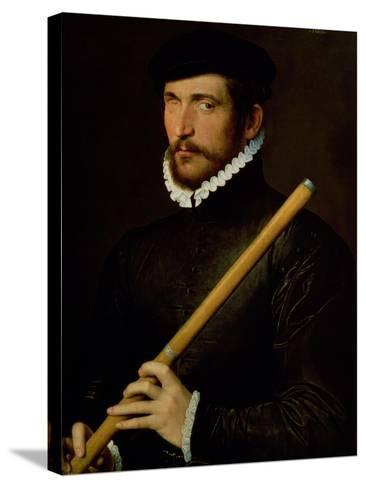 The One-Eyed Flautist, 1566--Stretched Canvas Print