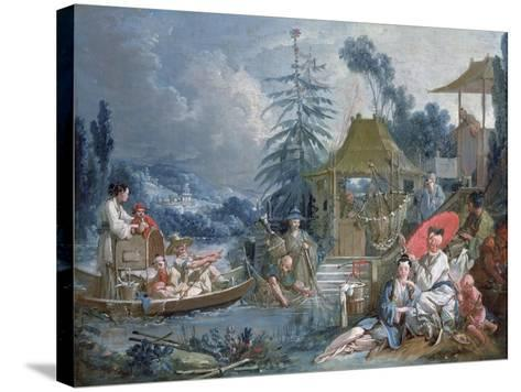 The Chinese Fishermen, circa 1742-Francois Boucher-Stretched Canvas Print