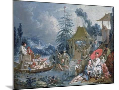 The Chinese Fishermen, circa 1742-Francois Boucher-Mounted Giclee Print