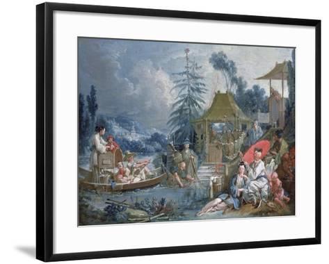 The Chinese Fishermen, circa 1742-Francois Boucher-Framed Art Print