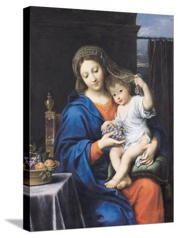 The Virgin of the Grapes, 1640-50-Pierre Mignard-Stretched Canvas Print