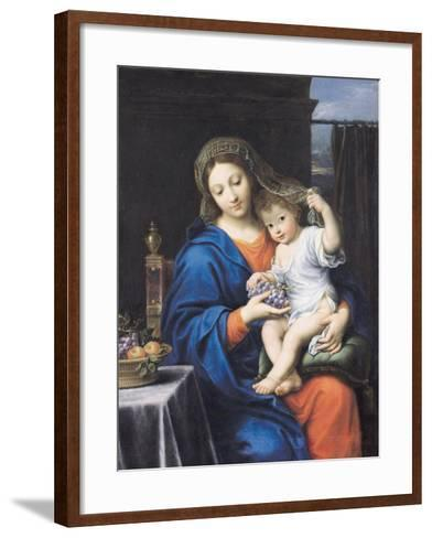 The Virgin of the Grapes, 1640-50-Pierre Mignard-Framed Art Print