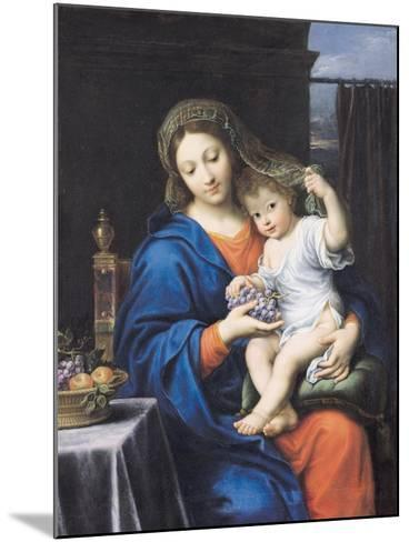 The Virgin of the Grapes, 1640-50-Pierre Mignard-Mounted Giclee Print