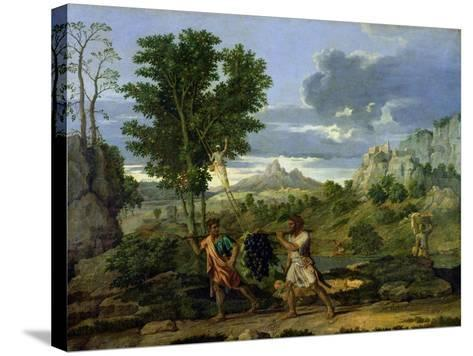 Autumn, or the Bunch of Grapes Taken from the Promised Land, 1660-64-Nicolas Poussin-Stretched Canvas Print