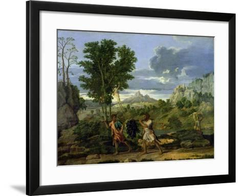 Autumn, or the Bunch of Grapes Taken from the Promised Land, 1660-64-Nicolas Poussin-Framed Art Print