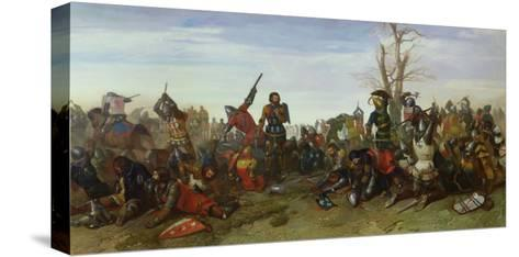 The Battle of Trente in 1350, 1857-Octave Penguilly l'Haridon-Stretched Canvas Print