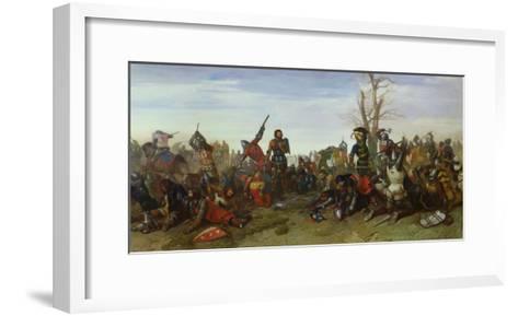 The Battle of Trente in 1350, 1857-Octave Penguilly l'Haridon-Framed Art Print