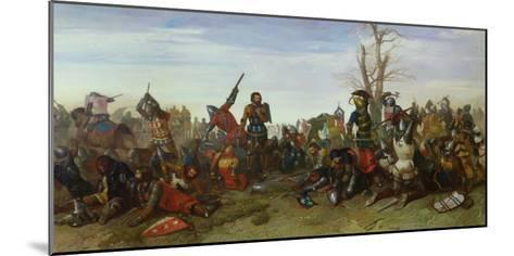 The Battle of Trente in 1350, 1857-Octave Penguilly l'Haridon-Mounted Giclee Print