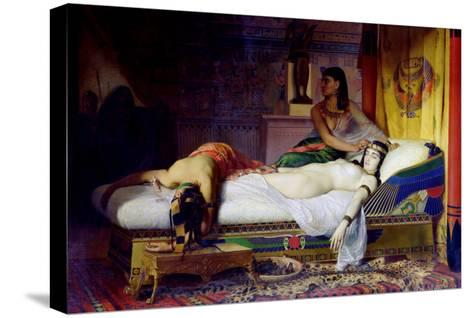 Death of Cleopatra, 1874-Jean André Rixens-Stretched Canvas Print