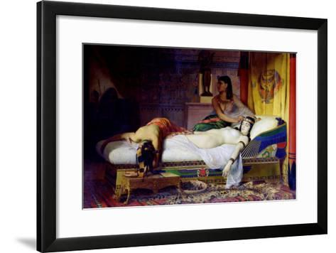 Death of Cleopatra, 1874-Jean André Rixens-Framed Art Print
