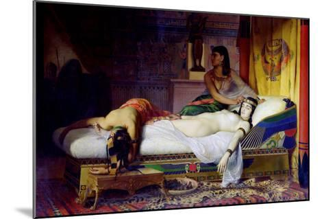 Death of Cleopatra, 1874-Jean André Rixens-Mounted Giclee Print